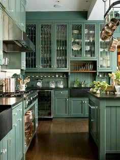 Lots of cabinet space. Very big kitchen.