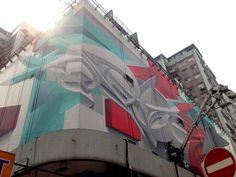 Une nouvelle Oeuvre murale en 3D de Peeta à Hong Kong (5)