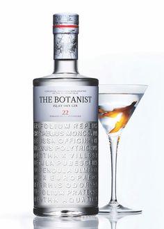 Gin bottle design. Islay. Bottle design