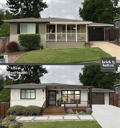 A beautiful home exterior can make or break curb appeal. We asked our professionals their top 14 curb appeal tips and some are so simple we had to share! Exterior Siding, Exterior Remodel, Exterior Design, Exterior Paint, Siding For Homes, Ranch Exterior, Bungalow Exterior, Exterior Signage, Building Exterior