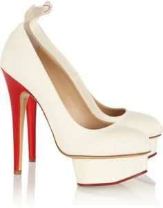 Charlotte Olympia Love Dolly silk-twill pumps on shopstyle.com
