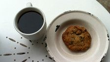 Oatmeal blueberry chocolate cookie   Photo by Joshua Lurie- Leslie Danelian and husband Rick Berge preside over this multi-faceted Sherman Oaks café. Their showcase oatmeal blueberry chocolate cookie combines melting, tile-shaped chocolates with sweet-tart dried blueberries and of course plenty of sweet butter to make this cookie nice and chewy.