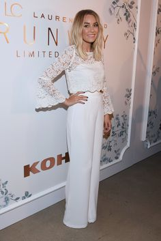 Lauren Conrad.. #LCLaurenConrad Runway Collection Lace Top and High Waist Pants.. #NYFW #SS16