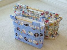 """Sew Retro"" Sewing Knitting Project Bag Tote PDF PATTERN"