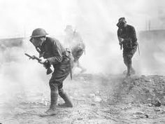 Mustard gas and tear gas are chemical weapons used in World War I. They were one of the new advances in warfare.