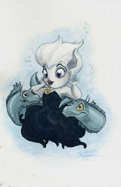 "Ursula by AmberStoneArt.deviantart.com on @DeviantArt - From ""The Little Mermaid"""