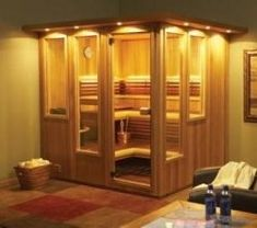 home sauna room Sauna Steam Room, Steam Bath, Sauna Room, Basement Sauna, Basement Bathroom, Minneapolis, Indoor Sauna, Traditional Saunas, Sauna Design