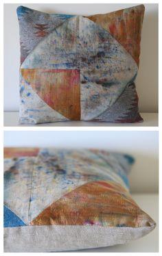 Geometric Tribal Cushion www.emmajunedesigns.co.uk www.emmajunedesigns.blogspot.com