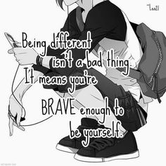 I literally dressed as a unicorn a went to school one day. not joking. Sad Anime Quotes, Manga Quotes, Cute Quotes, Best Quotes, Meaningful Quotes, Inspirational Quotes, Easy Diys For Kids, Dark Quotes, Some Words