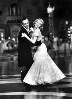 Fred Astaire and Ginger Rodgers. Top Hat 1934.