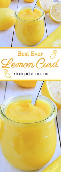 Luscious, creamy and smooth, bright sunny yellow and bursting with fresh lemony citrus flavor, our Homemade Lemon Curd is made using foolproof techniques. Perfect for gift-giving as well as everyday, holiday and special occasion desserts. It's like sunshine on a spoon! | diy dessert recipe