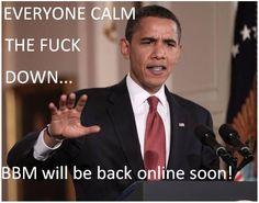 BBM will be back online soon. Jokes, Calm, Content, Husky Jokes, Memes, Funny Pranks, Lifting Humor, Humor, Pranks