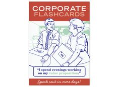 Knock Knock Corporate Flashcards - hilarious for anyone who works in Corp. America.