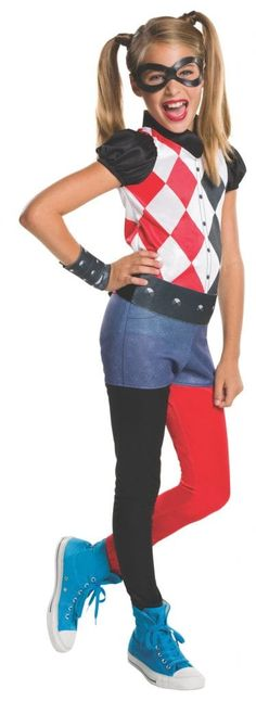 Kids Harley Quinn Costume - DC Super Hero Girls  Get 10% off Your Next Purchase  License: DC Super Hero Girls   Shop 1000 of costumes for mens womens and kids for any season!  #costume #costumeaccessories #costumeparty #nightlife #sale #costumes #theather #plays https://halloweenempireonline.com/product/kids-harley-quinn-costume-dc-super-hero-girls/