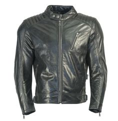 Genuine Cowhide Leather Buffed Brown Ribbed Cafe Racer Biker ... 228cb334e6f