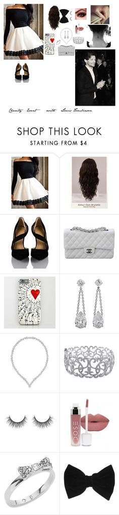 """""""Charity Event with Louis Tomlinson"""" by kadenirwin on Polyvore featuring WigYouUp, Chanel, Swarovski, Ice, Kate Spade and claire's"""