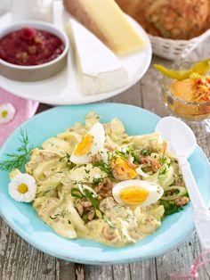 Perfekt für einen geselligen Osterbrunch: Curry-Eiersalat mit Krabben