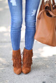 cute fringe booties
