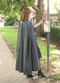 Rain Cape, Rain Wear, Duster Coat, Raincoat, Women Wear, Satin, Pvc Vinyl, Capes, Lady
