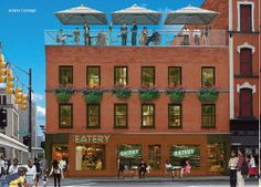 Roof Deck, Restaurant Envisioned for the Serman's Building - Renderings Revealed - Curbed Detroit