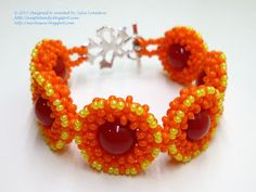 The 'Autumn colors' beaded bracelet. Free detailed tutorial.