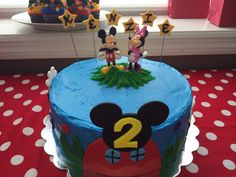 Mickey Mouse Clubhouse themed birthday cake. All details are made from fondant.