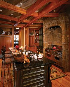 Four Suns Timber Frame Home - Kitchen