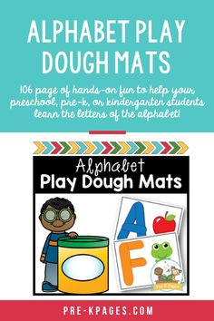 These pages are perfect for fine motor practice! They also provide kids with a fun, hands-on way to practice and learn the letters of the alphabet. 106 page of hands-on fun to help your preschool, pre-k, or kindergarten students learn the letters of the alphabet! Kids Learning Activities, Student Learning, Pre K Pages, Early Education, Literacy, Alphabet, Kindergarten, Preschool, Letters