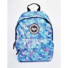 Hype Backpack with Blue Bubblegum Print (£26) ❤ liked on Polyvore featuring bags, backpacks, blue, knapsack bags, print backpacks, hype backpack, backpacks bags and hype rucksack