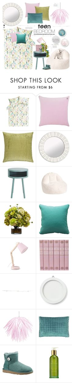 """Teen Bedroom"" by palmtreesandpompoms ❤ liked on Polyvore featuring interior, interiors, interior design, home, home decor, interior decorating, JAG Zoeppritz, Missoni Home, PTM Images and PBteen"