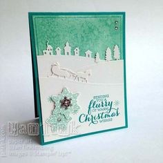 Flurry of Wishes with Salt Staining Background by JanTInk - Cards and Paper Crafts at Splitcoaststampers