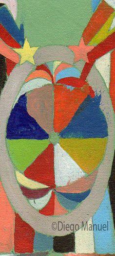 Astrapop 17, acrílico sobre tela, 12,5 x 19 cm. 2015. Abstract colorful painting