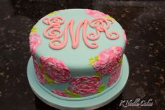 Lily Pulitzer theme cake by K Noelle Cakes