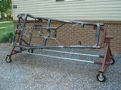 I have an extra engine stand in the garage, and I know some of you have used them for other uses? Any good ideas, before I get rid of it? Any pics. Garage Tool Storage, Garage Tools, Car Tools, Garage Workshop, Diy Workshop, Garage Shop, Metal Projects, Welding Projects, Engine Stand
