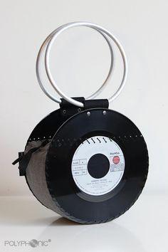 Vinyl Record Handbag / Evening Purse / Bag / Retro / Vintage / One of a kind