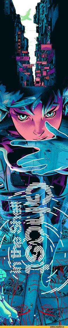 GITS,Anime Art,Аниме арт, Аниме-арт,Anime,Аниме,Ghost in the Shell,Призрак в Доспехах, GitS,очень длинная картинка,в комментах ещё,Martin Ansin