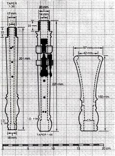 440 oboe dimensions