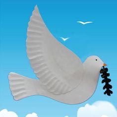 Cette colombe peut servir comme décoration de table à un mariage ou une communion. Mais vous pouvez aussi la faire comme décoration de Noël, ou pour célébrer la Journée internationale de la Paix qui a lieu chaque année le 21 septembre.