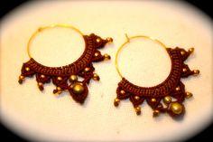 Rajastani macrame earrings by whiterythmicwind on Etsy, $35.00