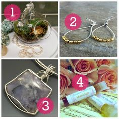 Mother's Day Gift Ideas for the Green Mama - featuring Etsy shops & Handmade brands - jewelry, terrariums, natural perfume!