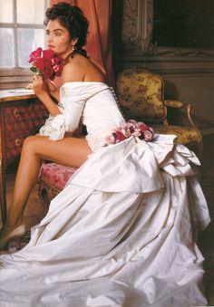 Helena Christensen by Karl Lagerfeld for Vogue UK (June 1991).