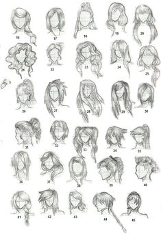 haar tekenen Hairstyles 2 by on deviantART in 2020 Girl Hair Drawing, Guy Drawing, Drawing People, Drawing Tips, Drawing Faces, Drawing Tutorials, Cool Art Drawings, Art Drawings Sketches, Realistic Drawings
