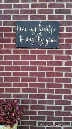 12x20 Tune My Heart to Sing Thy Grace Painted by petuniafitzgerald, $35.00