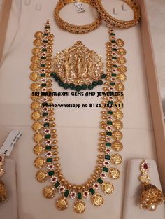 Your destination for best designs. Ram parivar haaram with detachable Ram parivar Locket Jhumke bangles. Visit for full variety at wholesale prices.Contact no 8125 782 30 April 2018 Indian Jewelry Sets, India Jewelry, Bridal Jewelry Sets, Temple Jewellery, Gold Earrings Designs, Gold Jewellery Design, Necklace Designs, Gold Designs, Silver Jewellery