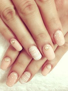 Need some nail art inspiration? browse these beautiful nail art designs and get inspired! Lace Nail Art, Lace Nails, Pink Nails, My Nails, Hair And Nails, Girls Nails, Nail Art Dentelle, Pink Wedding Nails, Bridal Nails
