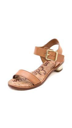 trina low heel sandals / sam edelman