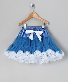 Take a look at this Blue & White Chiffon Pettiskirt - Infant & Toddler by Royal Gem Clothing on #zulily today!