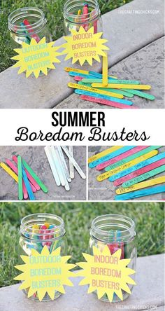 40 Indoor & Outdoor Summer Boredom Busters - The Crafting Chicks Camping Activites For Kids, Outdoor Summer Activities, Babysitting Activities, Craft Activities, Kids Outdoor Activities, Youth Activities, Nature Activities, Spring Activities, Daily Activities