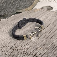 Square Knot Bracelet  Nautical Anchor Bracelet in by byMarisSal, $28.00