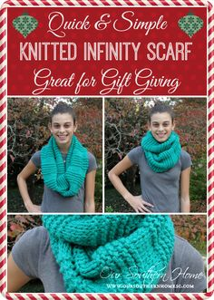 Our Southern Home | Quick and Easy Knitted Infinity Scarf | http://www.oursouthernhomesc.com